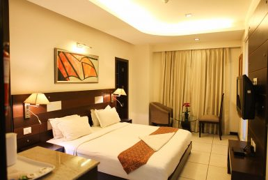 RoomDeluxe-1-385x258 Serviced Apartments in Gurgaon | Guest houses in Gurgaon | Service Apartments Gurgaon | CorporateStay.in